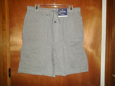 Stafford Men Sleep Pajama Knit Shorts Black Knit Cotton NWT