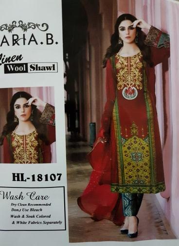 NUOVI Donna Donna Maria B B B asiatico Pakistano Shalwar qameez Scialle 3pc Suit 0695bb