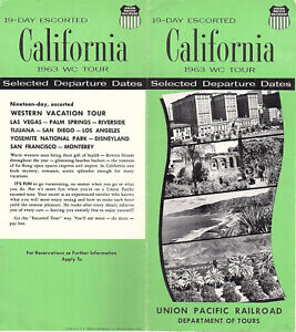 Details about Union Pacific RR Vintage 1963 Brochure 19 Day California Tour  Itinerary Photos