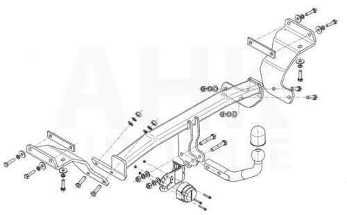 AHK Kpl. Für Kia Cee/'d SW JD 12-18 Anhängerkupplung starr+ES 13p spez