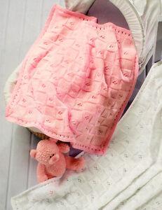 Baby-Blanket-amp-Shawl-Easy-Pattern-DK-Knitting-Pattern