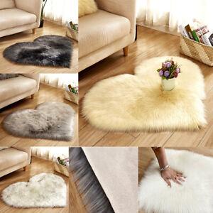 Home, Furniture & DIY Rugs Love Heart Shaped Faux Fur ...