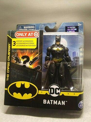 DC BATMAN FIGURINE Costume Noir Exclusive 1st édition 3 mystère Accessoires