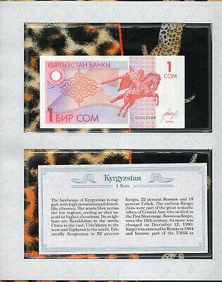 Kyrgyzstan 1 Som 1993 P-4 Banknotes UNC