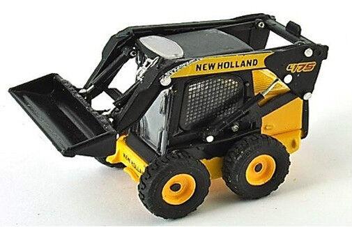New Holland L175 con Ruedas Deslizante Cargadora 1 87 Escala yellow   black -