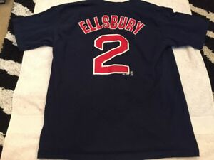 size 40 cc465 cfec9 Details about Jacoby Ellsbury #2 Majestic Red Sox Jersey T-shirt. Youth  X-Large XL. Free Ship