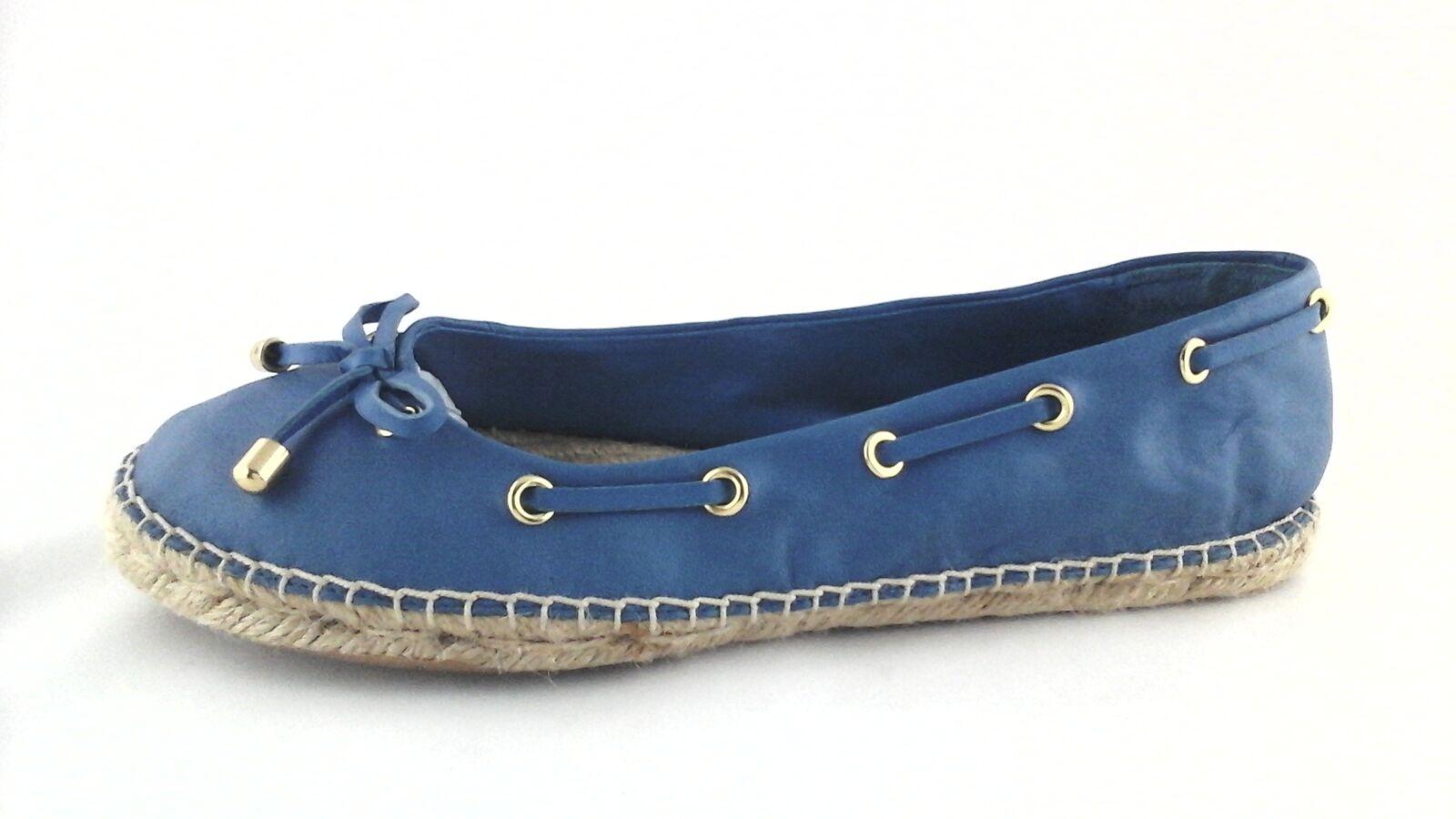 RALPH LAUREN LRL Espadrilles Blue Ballet Flats Pelle Shoes   9.5 EU 39.5  110