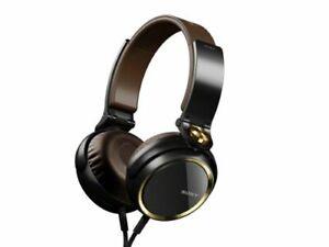 Sony-MDR-XB600-Headband-Headphones-Black-Gold