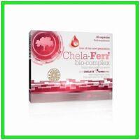 OLIMP Chela-Ferr BIO-COMPLEX Caps 5 ACTIVE Ingredients IRON Vitamin B6 B12 & C