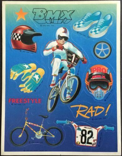 Vintage Hallmark Stickers BMX Racing Dated 1985 Sports