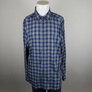 Vineyard-Vines-Slim-Fit-Whale-Shirt-Mens-XL-Blue-Gray-Long-Sleeve-Flannel-Plaid
