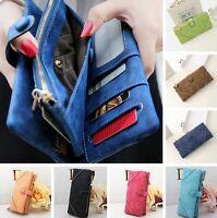 Fashion Women Leather Wallet Button Clutch Purse Lady Long Card Case Handbag Bag