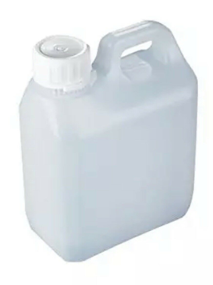 120 X Plastic 1L Jerry cans 1 Litre Containers Bottles With Tamper Evident Lids