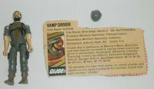 1982-GI-JOE-Vamp-conducteur-Embrayage-Droit-Bras-v1-Figure-avec-File-Card-complet