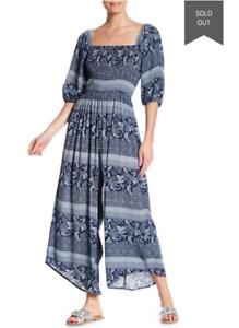 NEW Dress Forum Printed Puff Sleeve Jumpsuit Romper Small