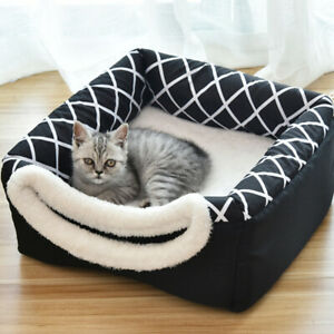 Pet-Cat-Dog-Nest-Bed-Puppy-Soft-Cave-Warm-Mat-Kennel-Basket-Igloos-Winter-House