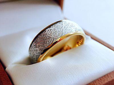 Tungsten Ring Meteorite Jewelry Meteorite Wedding Bands Womens /& Mens Ring 8mm Meteorite Ring Mens Wedding Band Silver Meteorite Rings