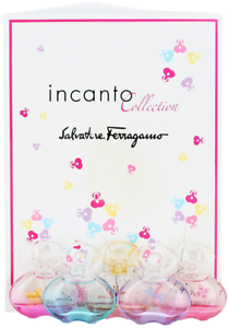 Incanto-by-Salvatore-Ferragamo-For-Women-5-pc-Set-Miniature-EDT-Damaged-Box