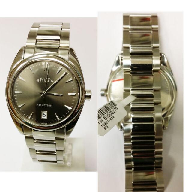 Nouvelles Arrivées style distinctif Braderie Michel Herbelin Men's Watch Ambassador 12227-B14 Analogue Stainless Steel  Silver