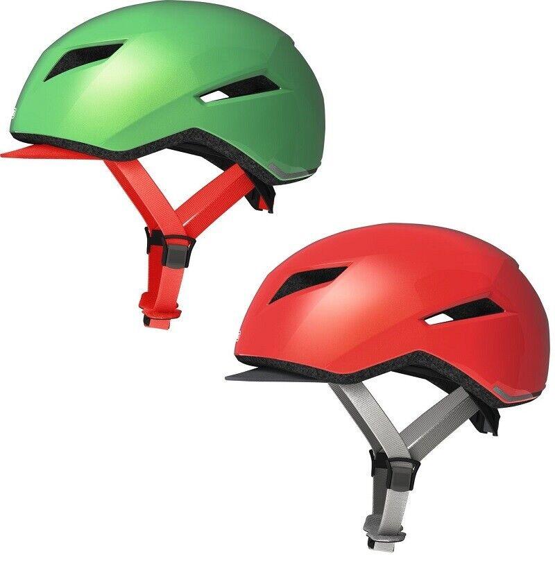 ABUS yaddI Casco per bicicletta in design fresco con visiera Tessuto, Rosso verde O., 5155cm