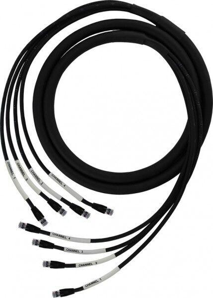 Pro Co 150ft Duracat4X 4 channel multipair CAT 6e 6e 6e cable UTP RJ45 to RJ45 d7af88