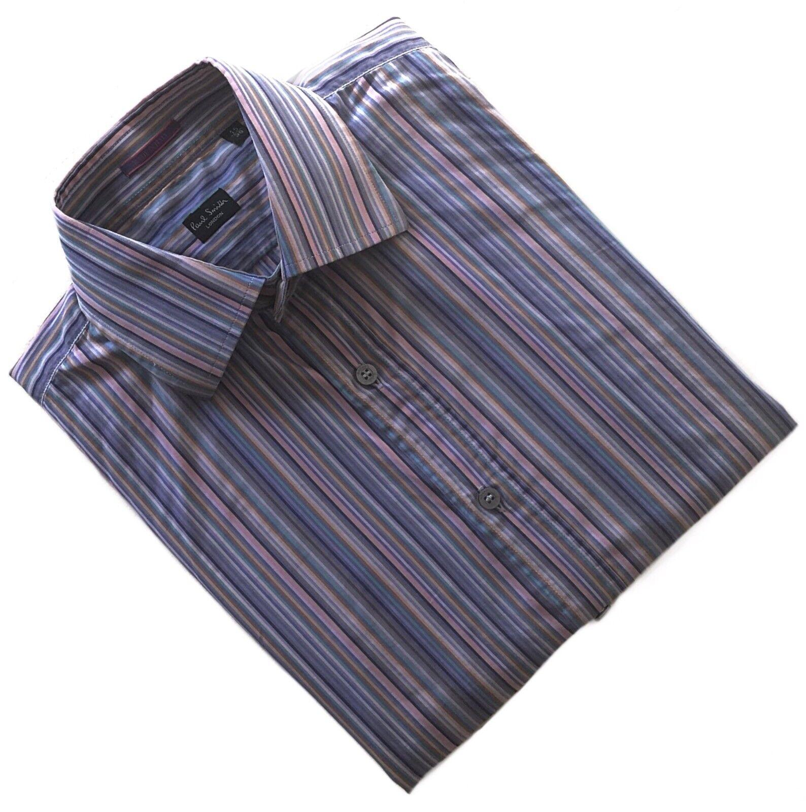 Paul Smith Stilista iconico Candy Stripe Camicia. TAG Taglia 15 38. MADE IN ITALY
