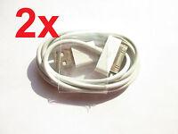 2x USB Ladekabel Datenkabel Kabel Sync Apple iPad 2 iPod iPhone 3G 3GS 4 4S