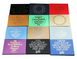 ROYAL MINT Proof Coin Set Outer Paper Covers 1971-1982  ** BEST VALUE ON EBAY **