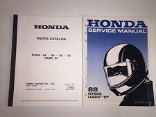 Honda 650 Parts Catalog & Service Manual motorcycle bike
