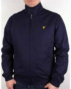 496cb270d Details about Lyle and Scott Check Lined Harrington Jacket in Navy Blue -  Coat SALE SMALL