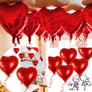 10Pcs-18-034-CUORE-ROSSO-Elio-Stagnola-Palloncini-giorno-S-Valentino-Fidanzamento-Matrimonio-Decor