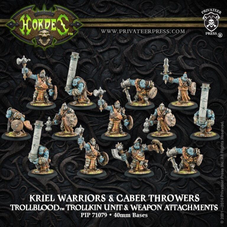Hordes BNIB Trollblood Kriel Warriors + Weapon Attachments 71079