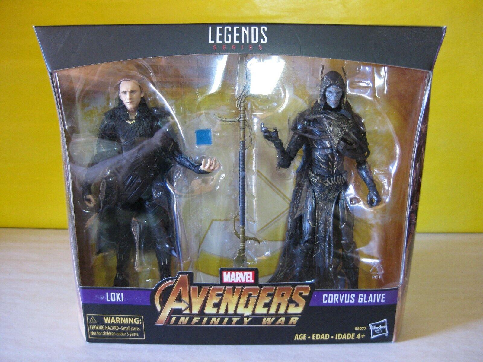 2018 Marvel Legends 6 Infinity War Walmart Exclusive Loki Corvus Glaive 2 Pack