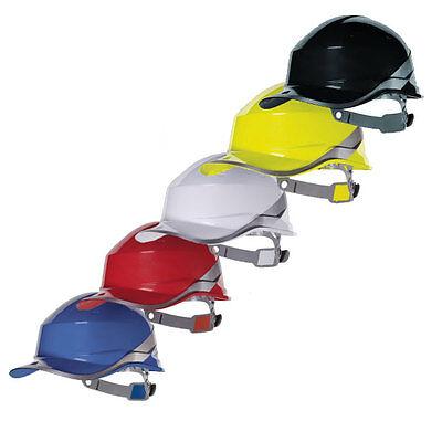 Delta Plus Workwear - Diamond V - Reversible Safety Hard Hat - Hi Viz Vis