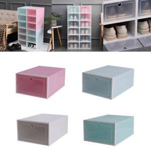 Clear Shoe Storage Boxes.Details About 1pc Plastic Foldable Clear Shoe Storage Box Plastic Stackable Shoe Organizer Box