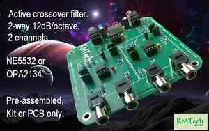 2-Channel-2-way-12dB-octave-active-crossover-filter-KMTech-OPA2134-Pre-assembled