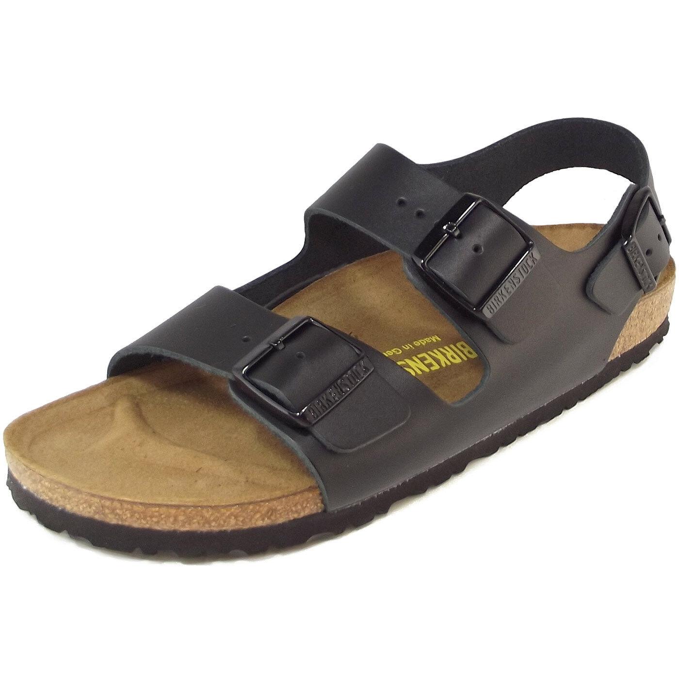 Billig hohe Qualität Birkenstock Milano Unisex Sandale schwarz