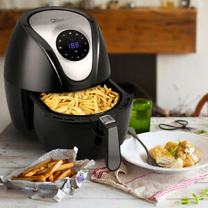 Air-Fryer-Power-4-5L-Pan-With-Basket-1400W-Digital-Health-Chip-Oil-Free-Oven-XL