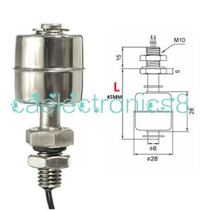 Mini Indicator Vertical Water Level Sensor Stainless Steel Float Switch