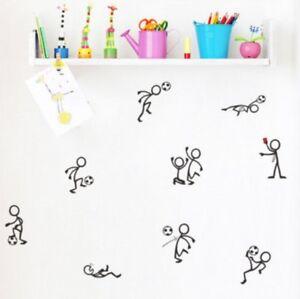 Wandtattoo-Wandsticker-Fussball-Kinderzimmer-Stick-figure-Strichmaennchen-132
