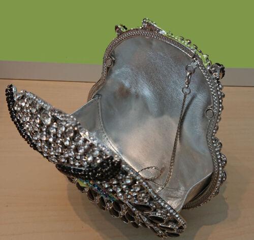 De Lujo Hecho a Mano 3D Cristal Búho Bolso sin asas Bolso de Mano Regalo Fiestas Eventos Bodas