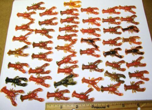 Vert naturel et de couleur orange 50 Pièces 1-1//2 pouces Crawdads No 2 SE RESSEMBLENT