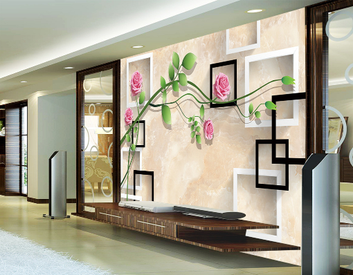 3D 3D 3D Flowers Grün Leaf Vines Paper Wall Print Wall Decal Wall Deco Indoor Murals 27ca14