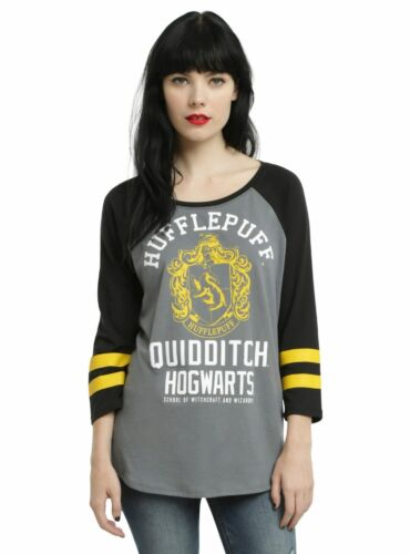 Womens Juniors Harry Potter Hufflepuff Quidditch Tee T-Shirt