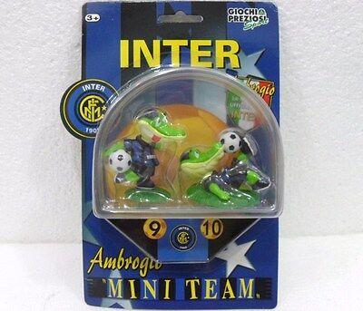 Devoto Inter-n° 9 E 10 Del Mini Team-ambrogio La Mascotte Ufficiale-preziosi Sport 2000 Piacevole Al Palato