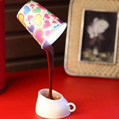 Novelty DIY LED Table Lamp Home Romantic Pour Coffee Usb Battery Night Light