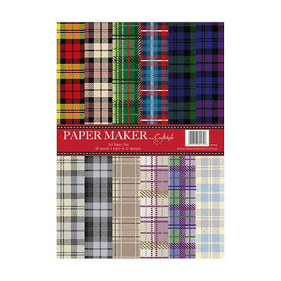 Pk 12 x A4 SAMPLE Paper Maker *Tarten* papers for cards and crafts