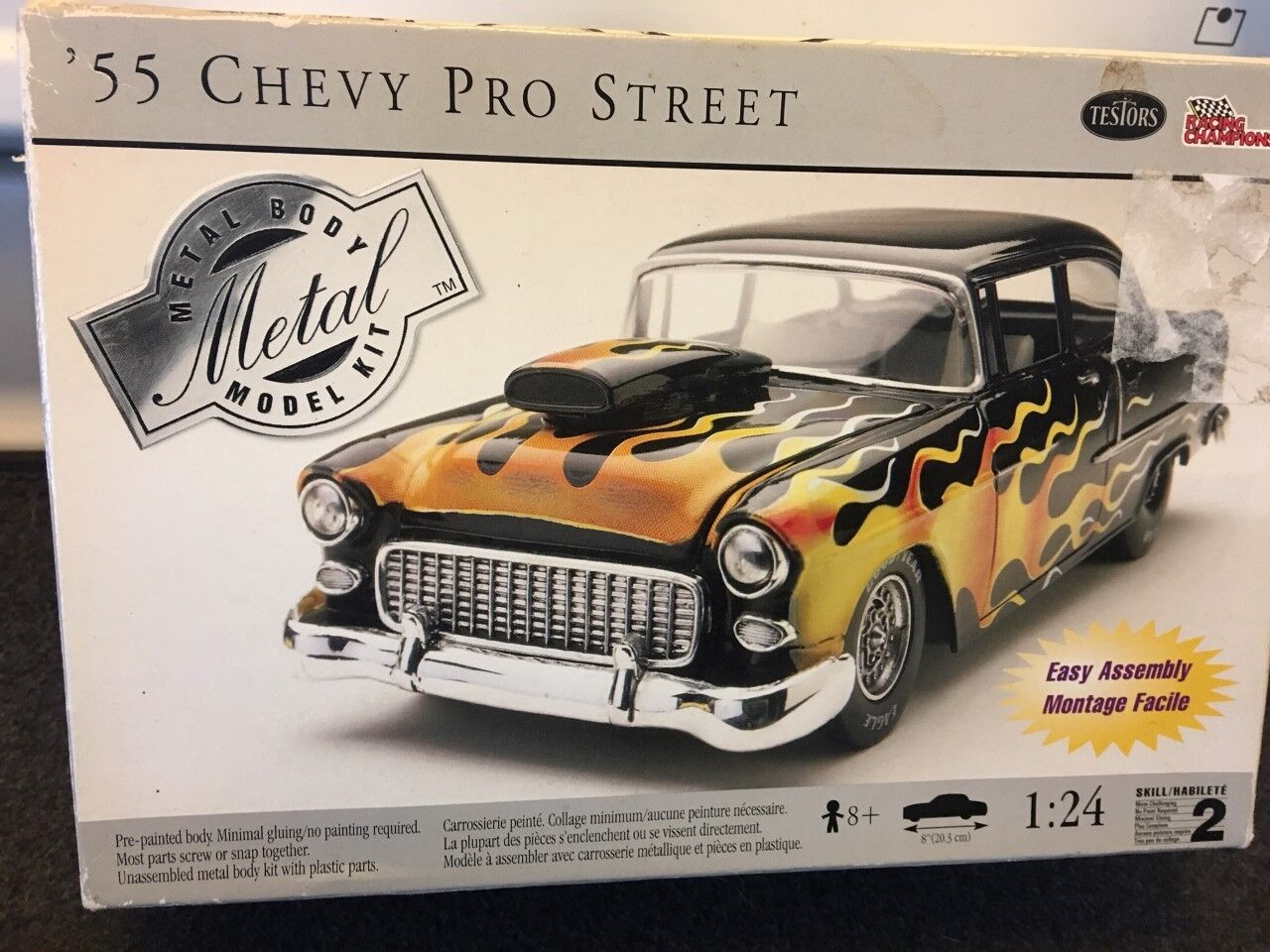 55 Chevrolet Belair PRO STREET Metal Model 1 25 Kit ----- Flames.