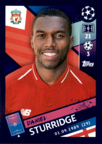 Daniel Sturridge Sticker 227 Topps Champions League 18//19