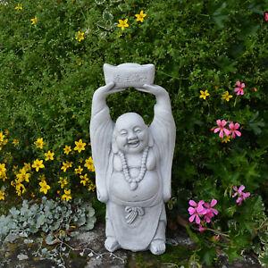 Lustige Gartendeko glücklicher Stein Buddha Mönch Feng Shui ...